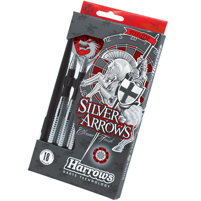 Šipky Harrows - STEELTIP SILVER ARROWS 18 gram